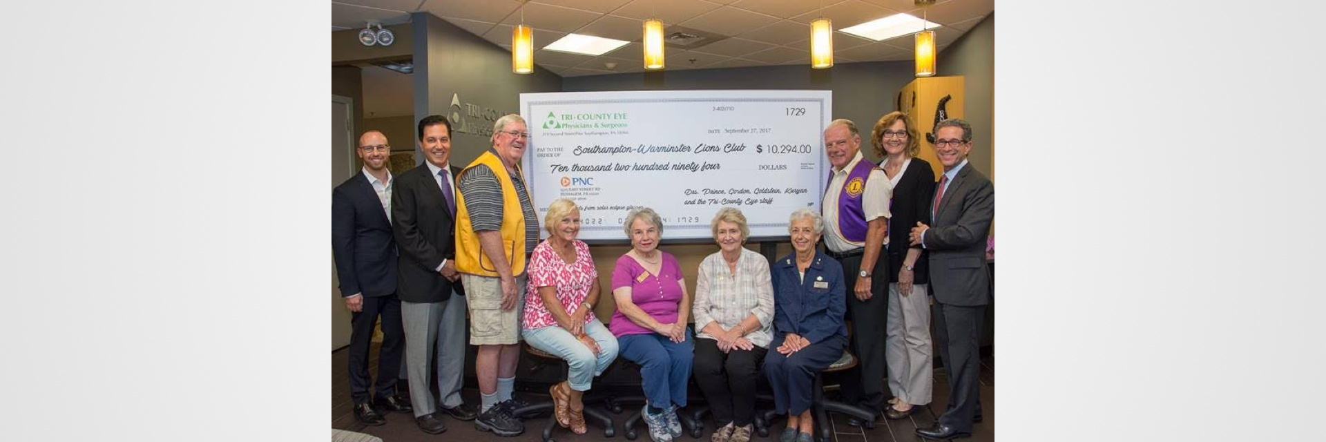 Southampton – Warminster Lions Receive $10,000 Donation Image 1